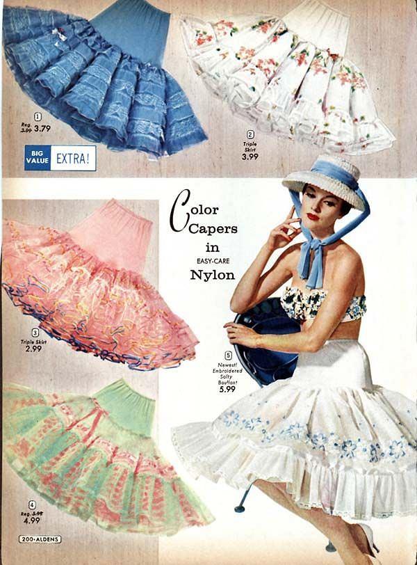 Petticoats w stylu lat 50.