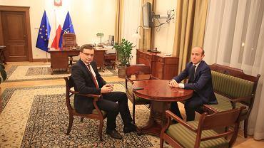 Zbigniew Ziobro przejmuje urząd ministra sprawiedliwości od Borysa Budki (fot. Jacek Marczewski/AG)