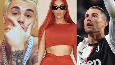 Kim Kardashian, Ronaldo, Justin Bieber