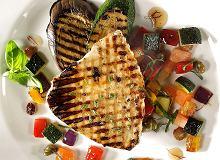 Stek z marlina z warzywami winegret - ugotuj