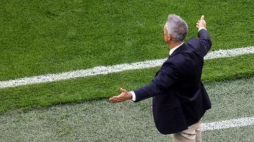 Paulo Sousa podczas meczu Polska - Słowacja na Euro 2020. St. Petersburg, 14 czerwca 2021