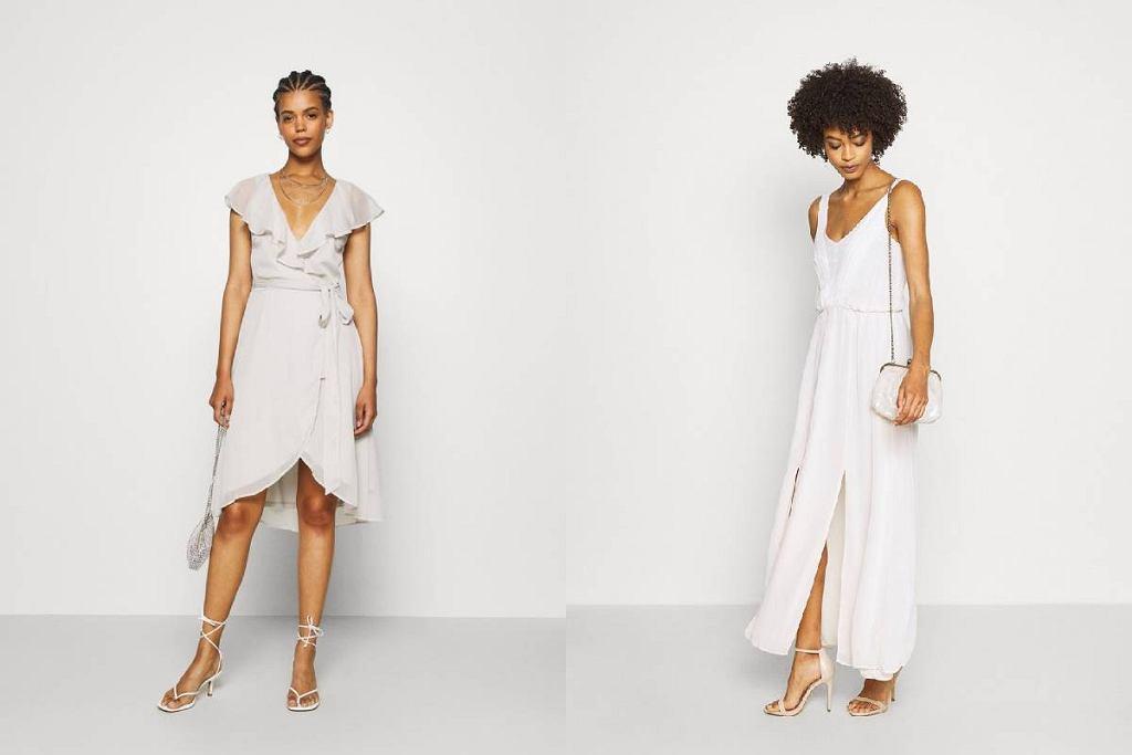 Sukienki białe z wyprzedaży