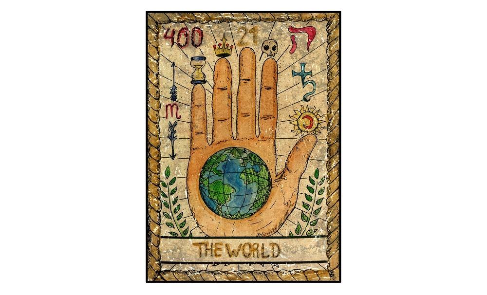 Karta tarota - 21 świat