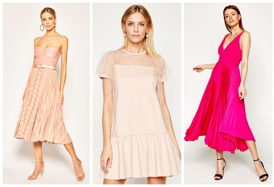 suknia plisowana