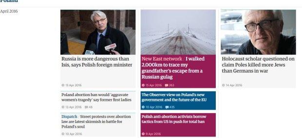 Guardian o Polsce