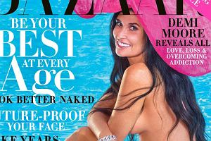Okładka Harper's Bazaar z Demi Moore