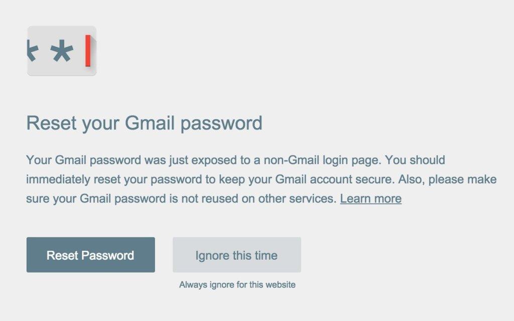Czy Password Alert działa jak trzeba?