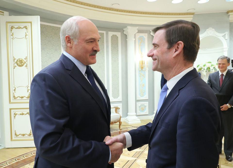 Wiceszef amerykańskiej dyplomacji David Hale podczas spotkania z prezydentem Białorusi Aleksandrem Łukaszenką, 17.09.2019