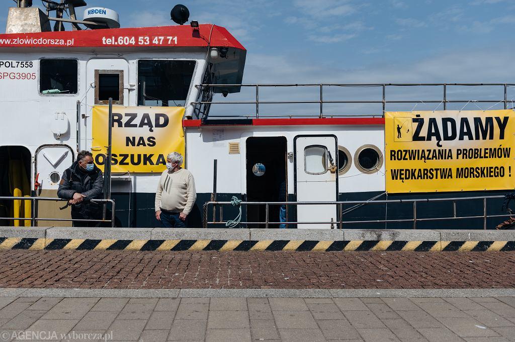 Ubiegłoroczny protest armatorów wędkarskich w Gdyni