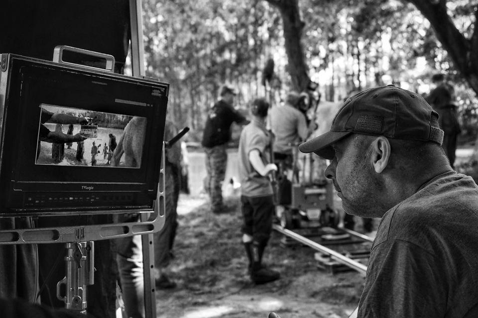 Václav Marhoul na planie filmu 'Malowany ptak'