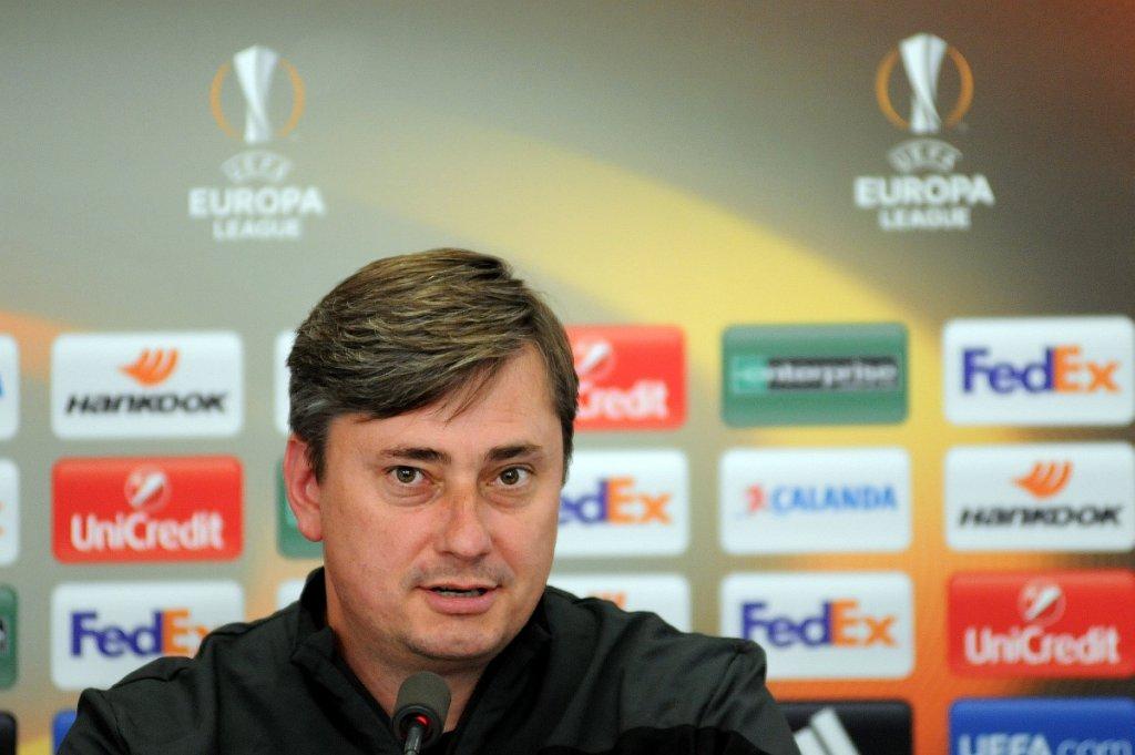 Liga Europejska, FC Basel - Lech Poznań. Konferencja przed meczem. Trener Maciej Skorża
