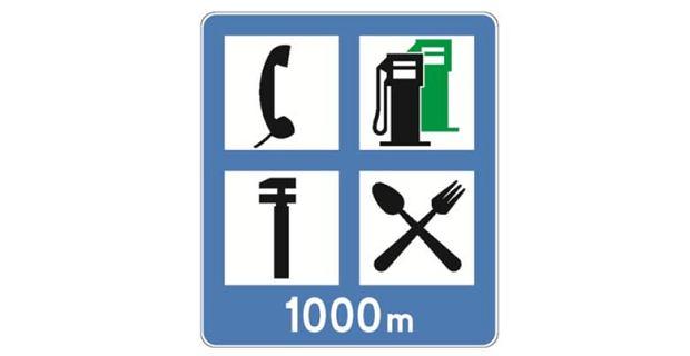 Informacja o obiektach przy drodze