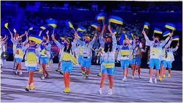 Ukraina podczas ceremonii otwarcia igrzysk olimpijskich w Tokio
