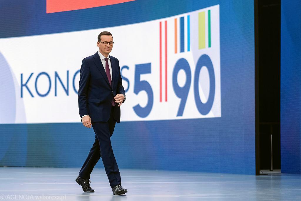 Premier Mateusz Morawiecki podczas kongresu 590