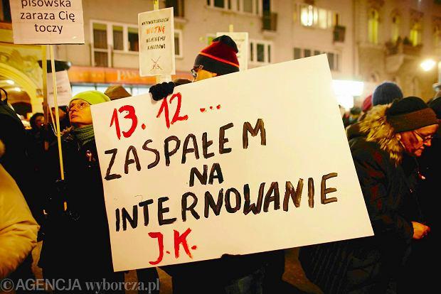 13 grudnia w Łodzi. Pikieta zwolenników KOD pod siedzibą PiS