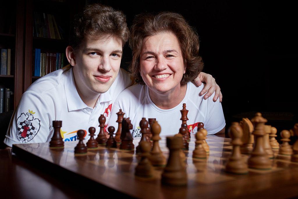 Jan Krzysztof Duda z mamą