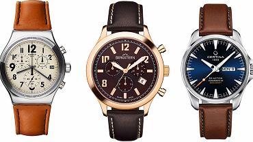5 zegarkowych propozycji 'Logo' - zegarki na brązowym pasku