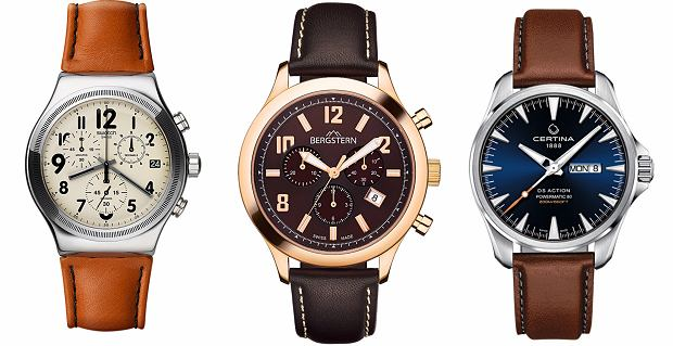 5 zegarkowych propozycji LOGO: na brązowym pasku