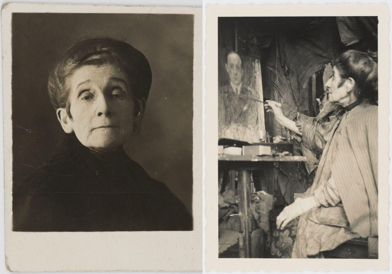 Boznańska w swoim paryskim atelier, ok. 1930 r. (fot. Biblioteka Polska w Paryżu)