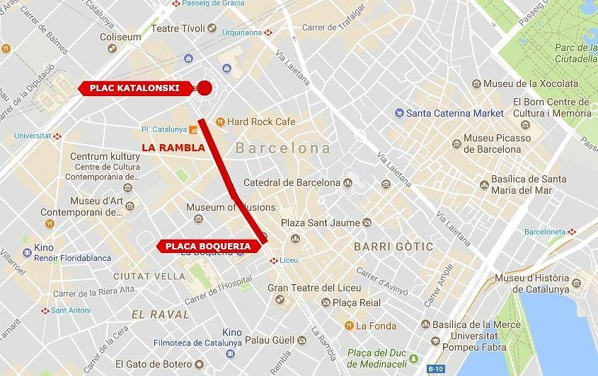 Zamach w Barcelonie. Samochód wjechał na La Rambla