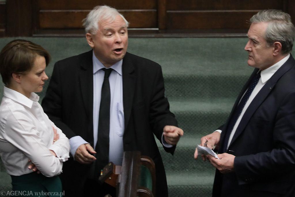 Jarosław Kaczyński - zdjęcie zrobione podczas posiedzenia Sejmu IX kadencji