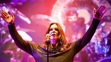 Ozzy Osbourne podczas koncertu grupy Black Sabbath w Łodzi w 2014 roku