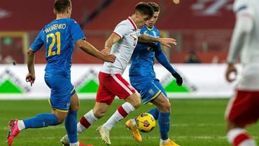 Krzysztof Piątek podczas meczu Polska - Ukraina na Stadionie Śląskim