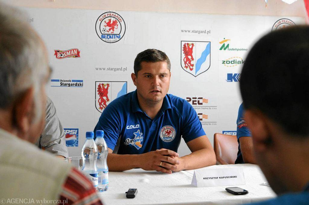 Trener Krzysztof Kapuściński