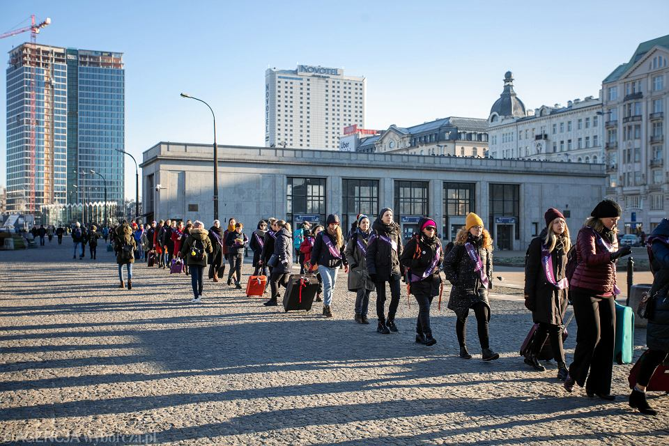 11.12.2019, Warszawa, happening inaugurujący inicjatywę Aborcja Bez Granic