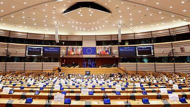 Sala plenarna Parlamentu Europejskiego w Brukseli