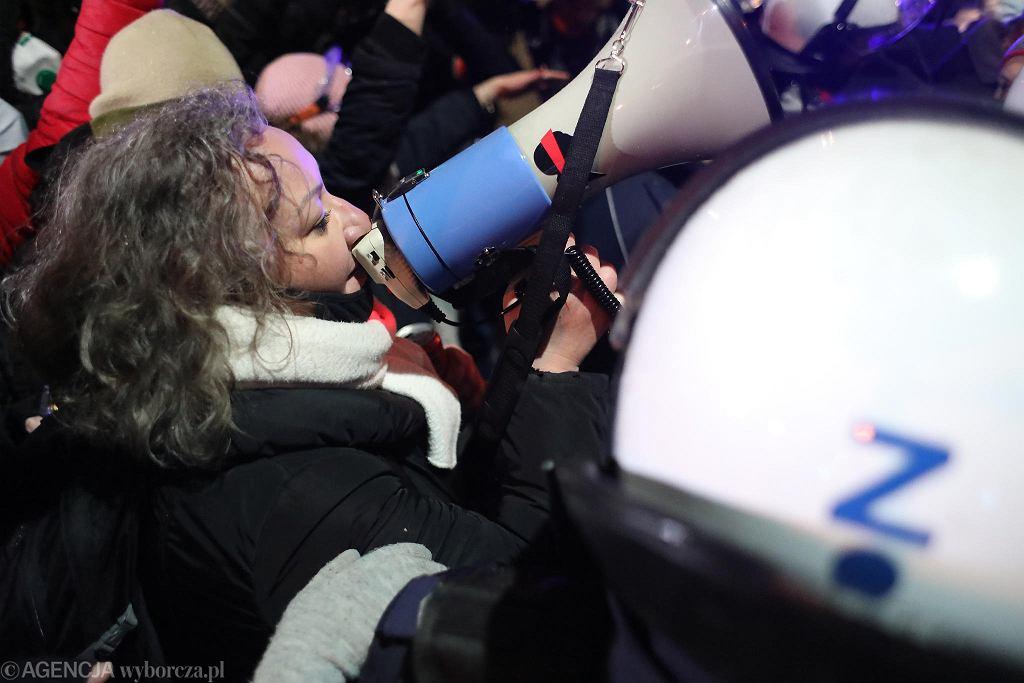 Marta Lempart podczas manifestacji Strajku Kobiet 28 listopada 2020 r.