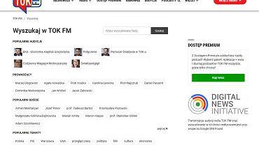 Wyszukiwarka podcastów na tokfm.pl
