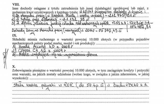 Oświadczenie majątkowe prezydenta Lublina, Krzysztofa Żuka