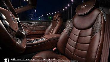 W swoim najnowszym projekcie, bułgarski tuner Vilner do wykończenia wnętrza Mercedesa SL użył skóry krokodyla