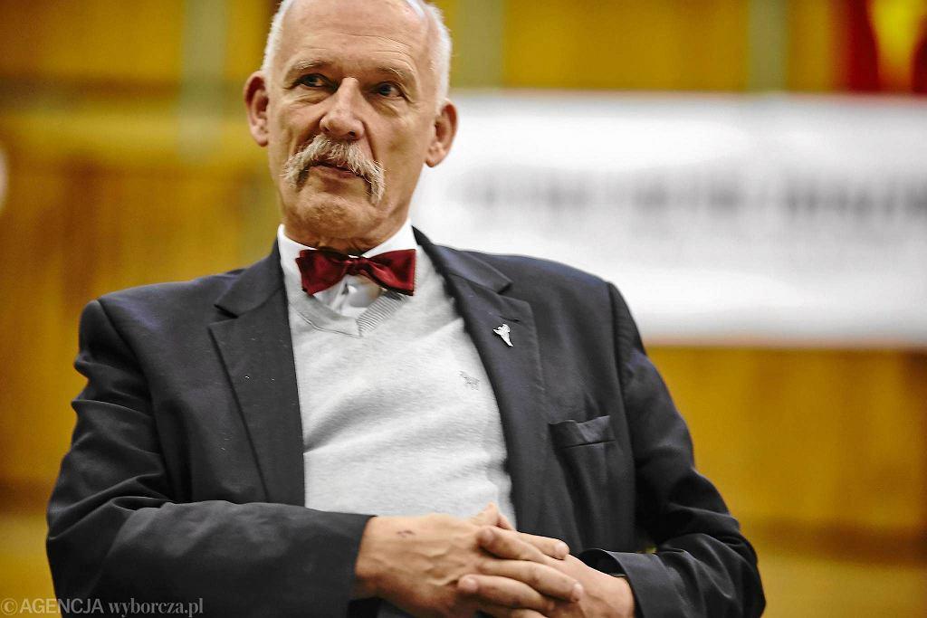 Janusz Korwin-Mikke, kandydat partii KORWiN na prezydenta