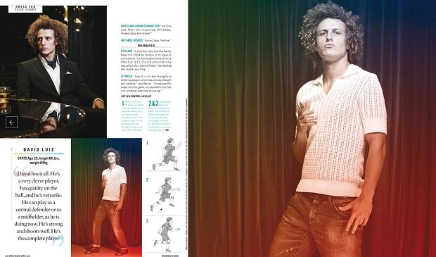 David Luiz w brytyjskim Men's Health