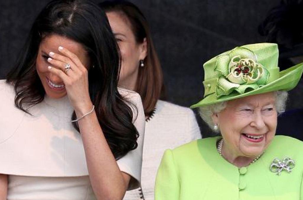 Meghan Markle i królowa Elżbieta