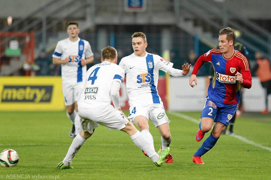 Piast Gliwice - Lech Poznań 2:0. Maciej Gajos, Patrik Mraz