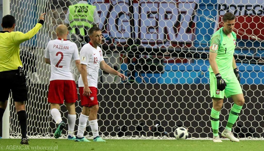 Wojciech Szczęsny podczas meczu Polska - Kolumbia
