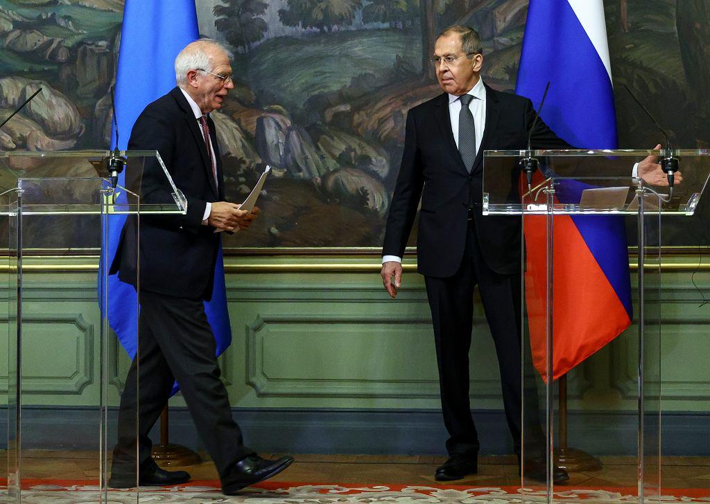 Spotkanie szefa unijnej dyplomacji Josepa Borrella i ministra spraw zagranicznych Rosji Siergieja Ławrowa