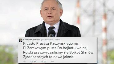 Jarosław Kaczyński nie pojawił się na przemówieniu Obamy, ponieważ jest w szpitalu?