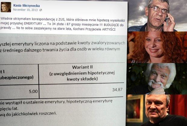 Sprawdzamy, jaką emeryturę mają naprawdę polskie postaci kultury
