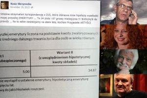 Skrzynecka na FB: Moja emerytura będzie wynosić 34 zł miesięcznie!!!. A ile dostają Zborowski i inni? [SPRAWDZILIŚMY]