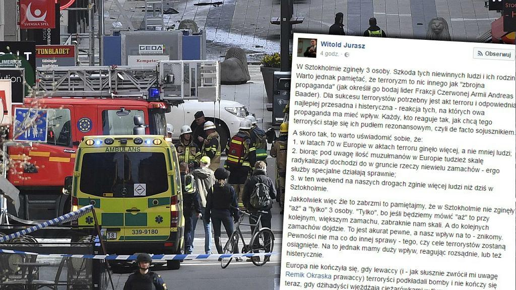 Akt terroru w Sztokholmie