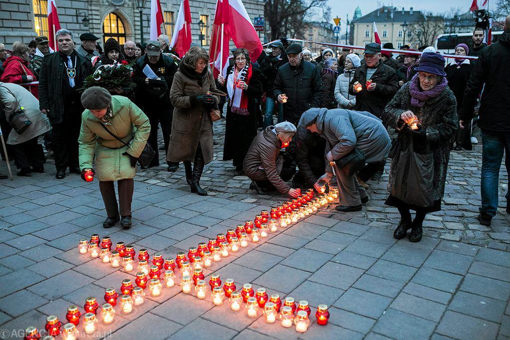 10.03.2017 Krakow . Obchody 83 miesiecznicy smolenskiej  .  Fot. Michal Lepecki / Agencja Gazeta