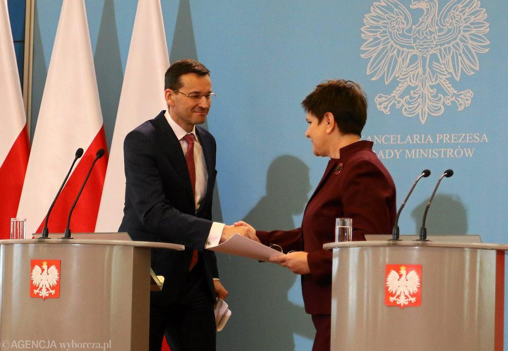 Premier Beata Szydło i wicepremier, minister finansów i rozwoju Mateusz Morawiecki