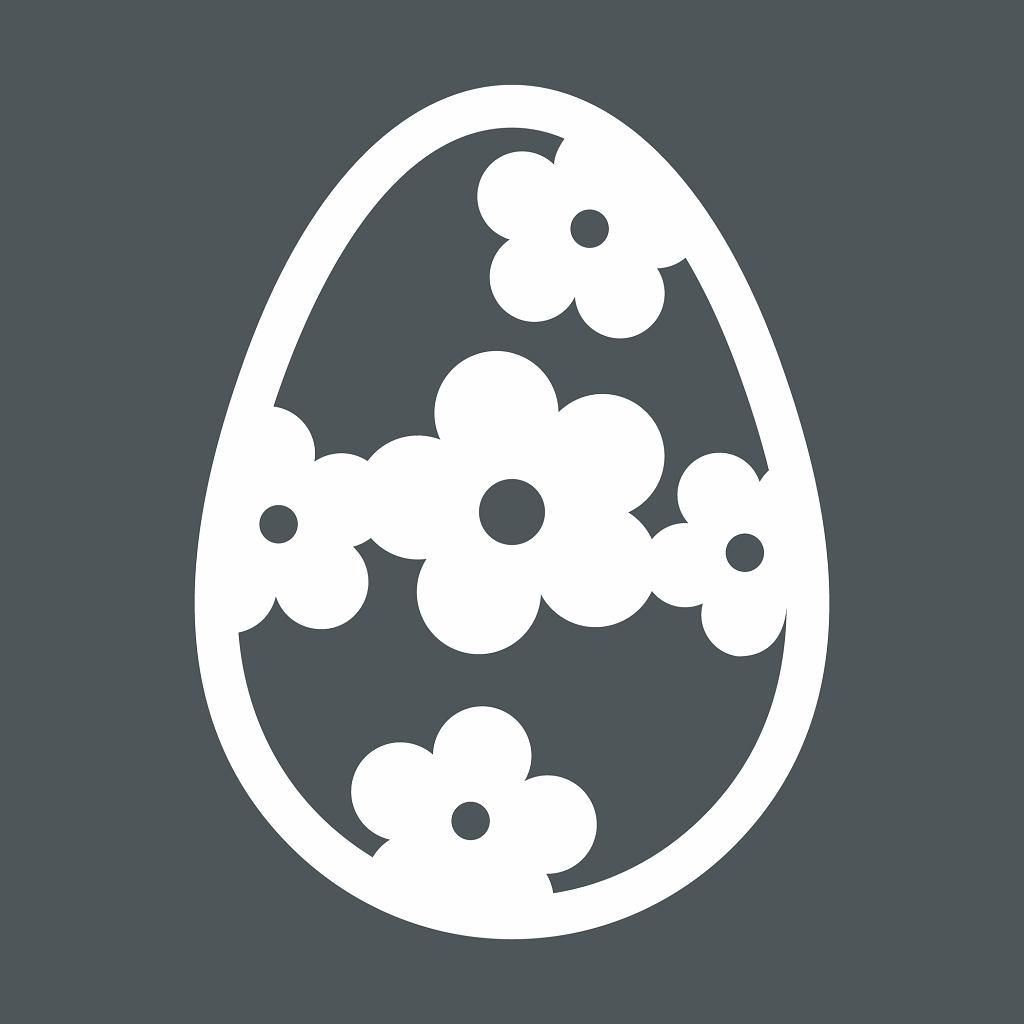 Jajka szablon. Zdjęcie ilustracyjne