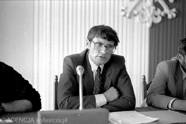 Leszek Balcerowicz w Sejmie, wrzesień 1989 r.