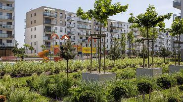 Na osiedlach coraz ważniejsze stają się tereny zielone. Budynki firmy Robyg w Gdańsku