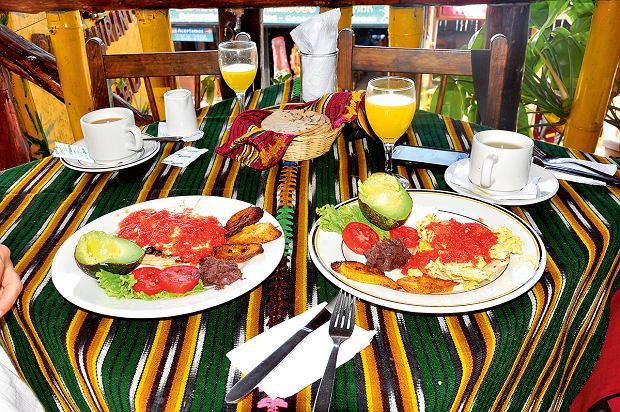 Gwatemala, śniadanie